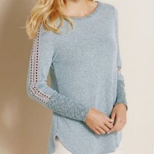Soft Surroundings Bailey Waffle Knit Pullover